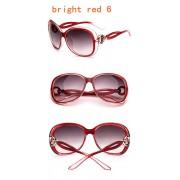 Ochelari de soare cu rama rosie deschis Retro Sunglass
