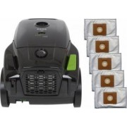 Pachet aspirator Zass ZVC 11 1400W cu 5 saci Negru