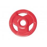 Anilha Sport Luxo Revestida - Vermelha - 1 Kg