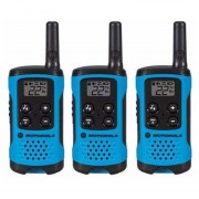 Kit 3 Walkie Talkies Motorola T100-Azul