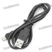 De datos USB cable de carga para Samsung Galaxy W I8150 - Negro (91cm-Cable Length)