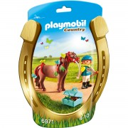 Joc PLAYMOBIL Groomer with Butterfly Pony