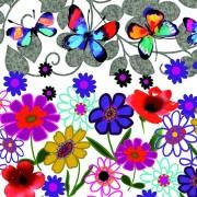 Lunchservet Butterflies in My Garden
