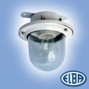 Por és páramentes lámpa EI 02 BOLO 1x60W átlátszó üveg búra, 2 kábelbevezető IP54 Elba