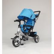Tricikl Guralica Playtime 411-1 Simple sa tendom od lanenog platna - Plavi