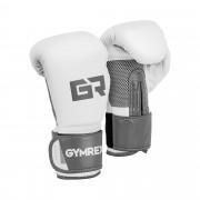 Gants de boxe - 8 oz - Paume Mesh - Blancs et gris pâle, fini métallique