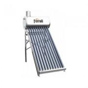Panou solar nepresurizat cu boiler inox 120 litri si flotor Ferroli Ecosole JDL-TF12-58/1.8-SS