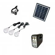 Kit cu Panou Solar, USB si Becuri LED, 6V 4Ah GD8017B
