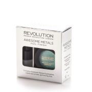 Makeup Revolution Amplasat pe formarea de umbre metalice din metal Awesome (Foil Finish) 1,5 g Emerald Goddess