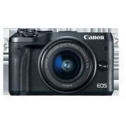 Aparat foto Mirrorless Canon EOS M6 EF-M, 15-45 mm, 24.4MP, Filmare FullHD (Negru)