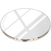 TOZO for iPhone X Wireless Charger [Upgraded], [Ultra Thin] Aviation Aluminum [Sleep-friendly] Fast Charging Pad for iPhone X/10/8/8 Plus, Samsung Galaxy S8, S8+, Note 8 [Gold] - NO AC Adapter