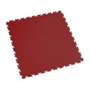 Červená vinylová plastová zátěžová dlaždice Industry 2020 (kůže), Fortelock - délka 51 cm, šířka 51 cm a výška 0,7 cm