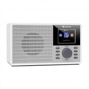 """Auna IR-160, internet rádió, WLAN, USB, AUX, UPnP, 2.8"""" TFT kijelző, távirányító, fehér (KC6-IR160-white)"""