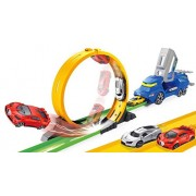 Toys Bhoomi Ultimate Speed Track Car Garage Playset Kids Toy Set with Model Toy Cars Helicopters Jeep Vehicles - Children Birthday Gift Toys