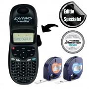Aparat de etichetat Dymo LetraTag 100H Black Edition, ABC, etichete plastic autocolante si o banda hartie