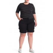 SUPPLIES BY UNION BAY Betsey Comfort Waist Stretch Twill Shorts Plus Size BLACK