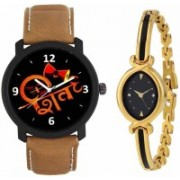 SPLAZOS Combo Presenting the Leather Strap And Formal Design For Men And Women-128 Watch - For Boys & Girls