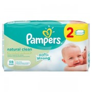 Pampers vlažne maramice Natural Clean, 2 x 64 komada