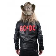 bunda pánská kožená AC/DC - LNTC BLACK - AD-17-MSJ-02