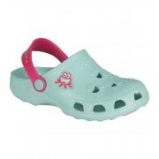 COQUI LITTLE FROG Dětské sandály 8701-562 Lt. Mint / Lt. Fuchsia 3132