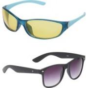 Vast Sports, Wrap-around Sunglasses(Yellow, Violet)