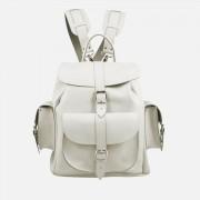 Grafea Bianca Medium Leather Rucksack - White