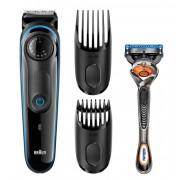 Тример за брада и коса Braun BT3040 + подарък самобръсначка Gillette