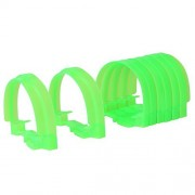 8PCS Railway Tunnels Set Track Attachments Flexible Tunnel Portal Track Accessories Toys for Toddler Set of 8 (Green)