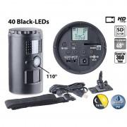 VisorTech HD-Überwachungskamera, Nachtsicht, 110°, 12 Monate Laufzeit, SD, IP66