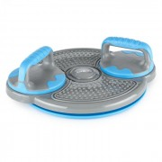 Klarfit Klartwist rotációs diszk 3 az 1-ben, egyensúlyozó tárcsa, fekvőtámasz keret, kék (FIT20-Klartwist)