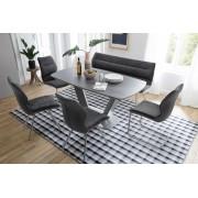 MCA Furniture MCA Schwingstuhl Orlando (2erSet) anthrazit