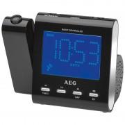 AEG MRC 4122 - Radio Despertador Proyector negro