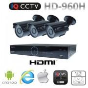 Kamerové sety 960H s 3x bullet kamery s 20m IR + DVR s 1TB HDD