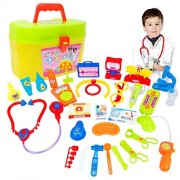 Baby Toy, Hatop 30pcs Kids Baby Doctor Medical Play Carry Set Case Education Role Play Toy Kit