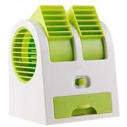 New Fashion Mini Small Fan Cooling Portable Desktop Dual Bladeless water Air Cooler USB