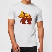 Nintendo Donkey Kong Silhouette Mangrove Heren T-shirt - Grijs - M - Light Grey