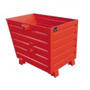 Stapel-Kippbehälter Volumen 0,7 m³ rot RAL 3000
