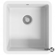 vidaXL Granitni kuhinjski sudoper s jednom kadicom bijeli