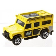 MATCHBOX ON A MISSION SERIES YELLOW AND BLACK LAND ROVER DEFENDER 110 DIE-CAST