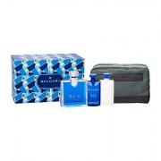 Bvlgari BLV Pour Homme confezione regalo Eau de Toilette 100 ml + 75 ml balsamo dopobarba + 75 ml doccia gel + borsa per i cosmetici uomo