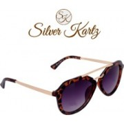 Silver Kartz Wayfarer, Rectangular, Oval Sunglasses(For Girls)