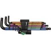 WERA 950 SPKL/9 SM N Multicolor Hex-Plus Hex Key Set High Torque