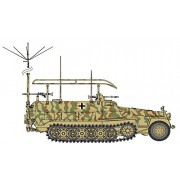 Cyber Hobby Models Sd.Kfz.251/6 Ausf.C Command Vehicle + German Command Staff Model Kit (1/35 Scale)