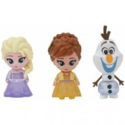 Set Giochi Preziosi 3 Mini Figurine Elsa Anna si Olaf Whisper and Glow Frozen 2