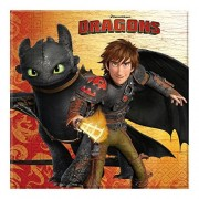 Unique How To Train Your Dragon Paper Napkins, Pack of 20