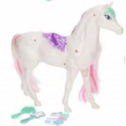 Wit /roze paard speelset met 6 delige paarden verzorgingsset