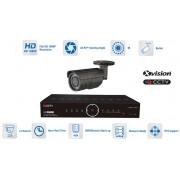 AHD kamerový set profi - 1x bullet kamera 1080P + 40m IR a DVR