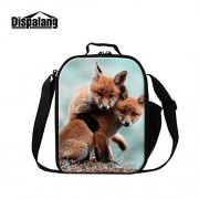 Dispalang Fox Printing Insulated Lunch Cooler Bags for Children Cool Lunch Bags for Adults Work