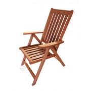 Karfás kerti szék fából, 5 pozíciós