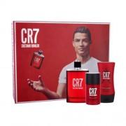 Cristiano Ronaldo CR7 set cadou apa de toaleta 100 ml + deodorant solid 75 ml + balsam dupa barbierit 100 ml pentru bărbați